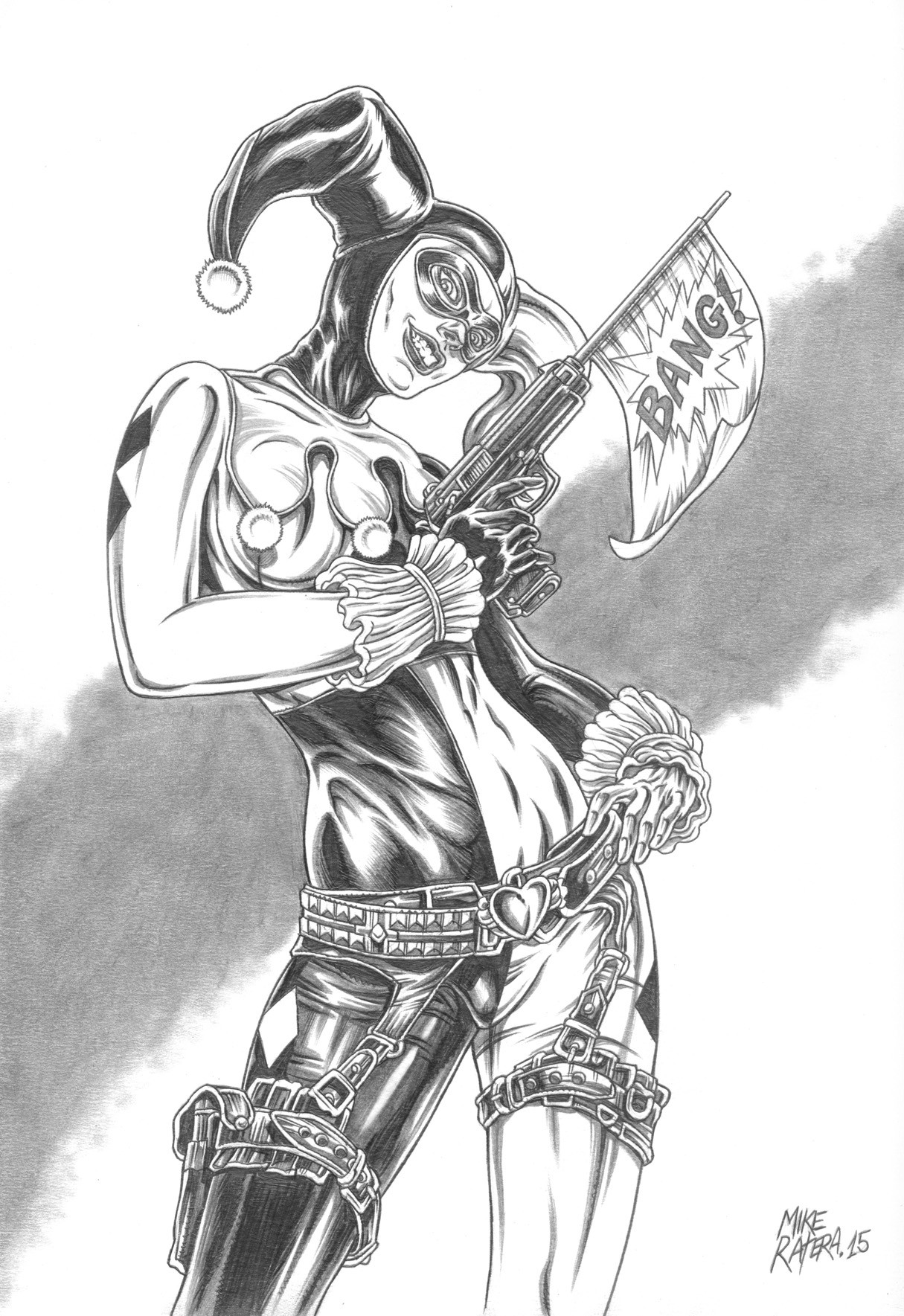 Mike ratera harley quinn 4 bw