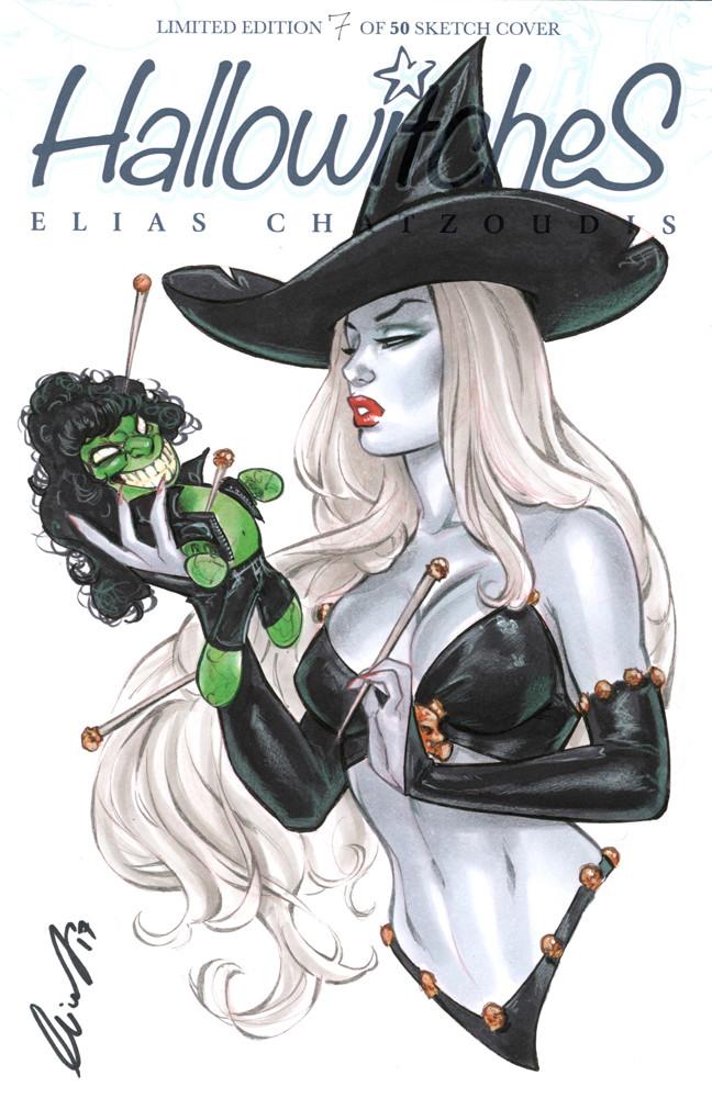 Elias chatzoudis lady death with evil ernie voodoo doll by elias chatzoudis db1zqrl