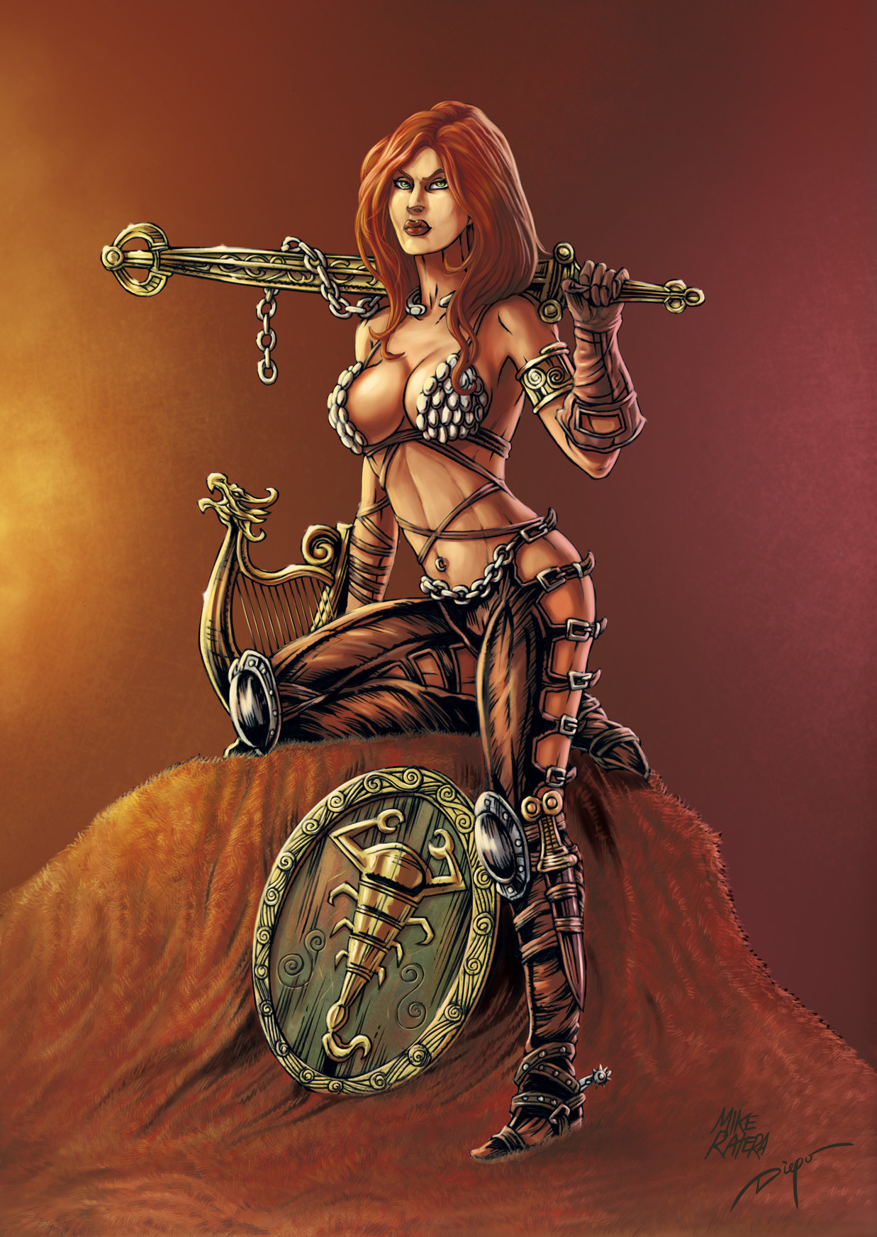 Mike ratera red sonja 07 color