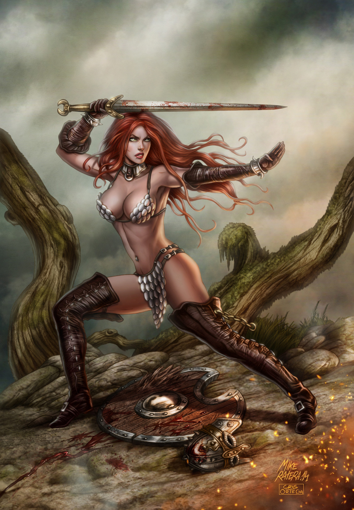 Mike ratera red sonja 14 color