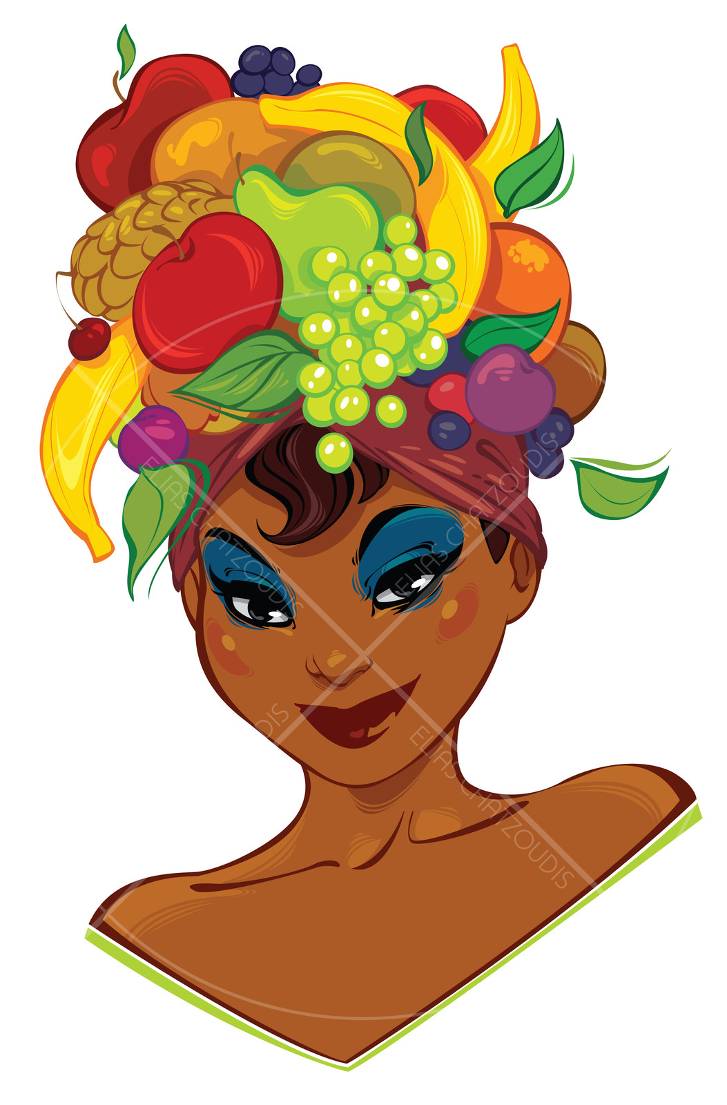 Fruits on head