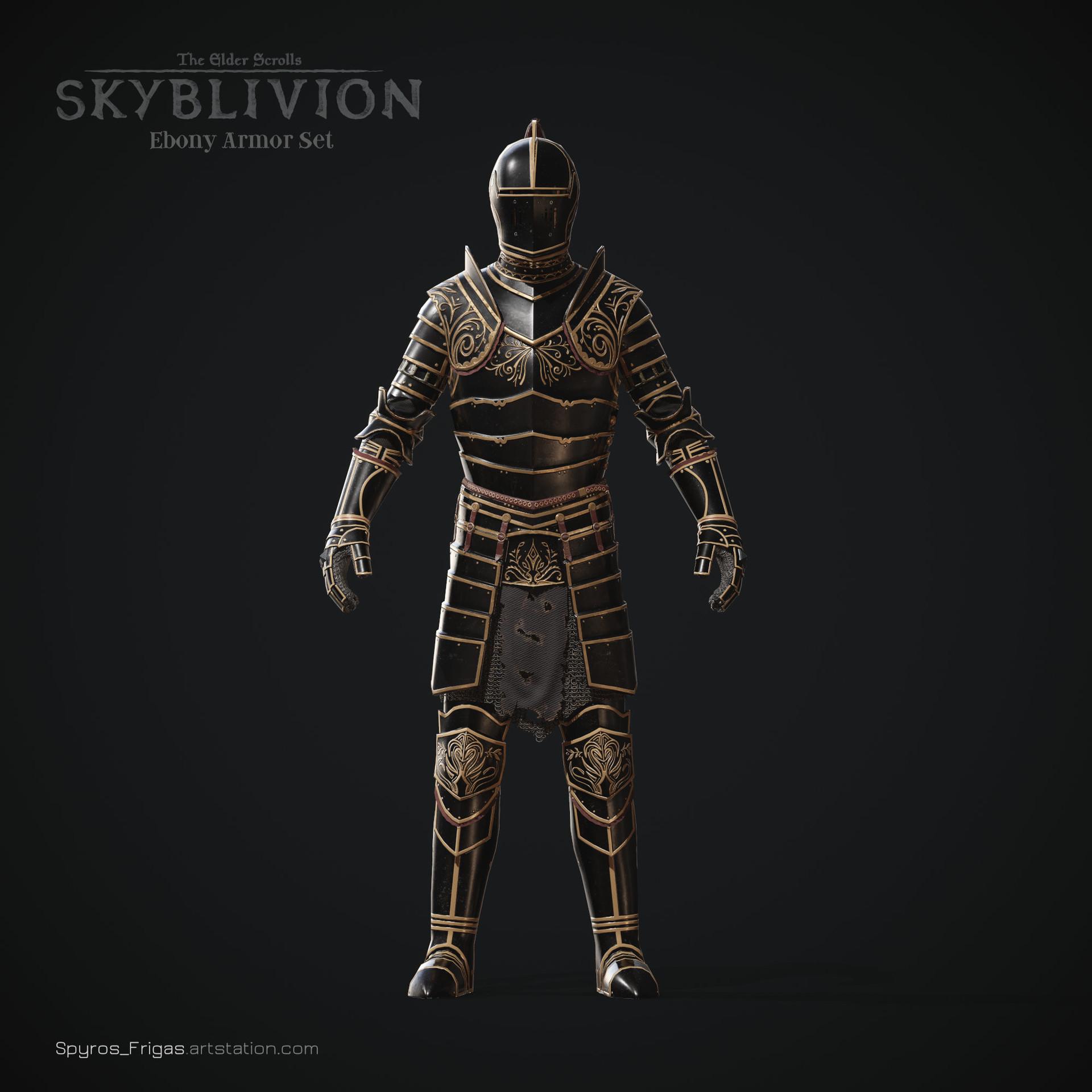 Oblivion ebony armor