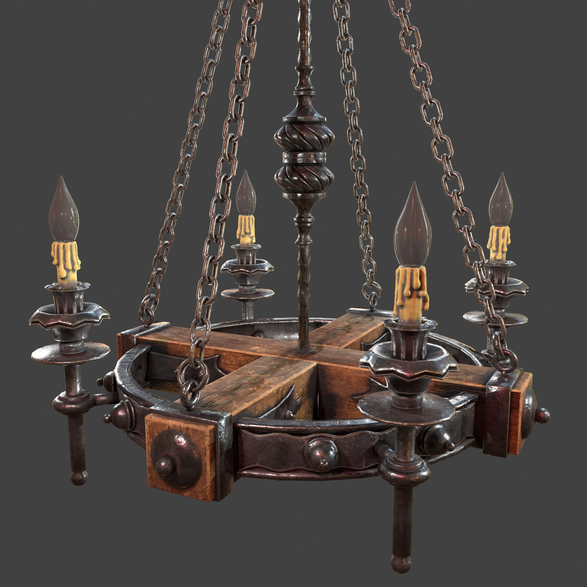 ArtStation - Forged chandelier 1 3d model, Nicu