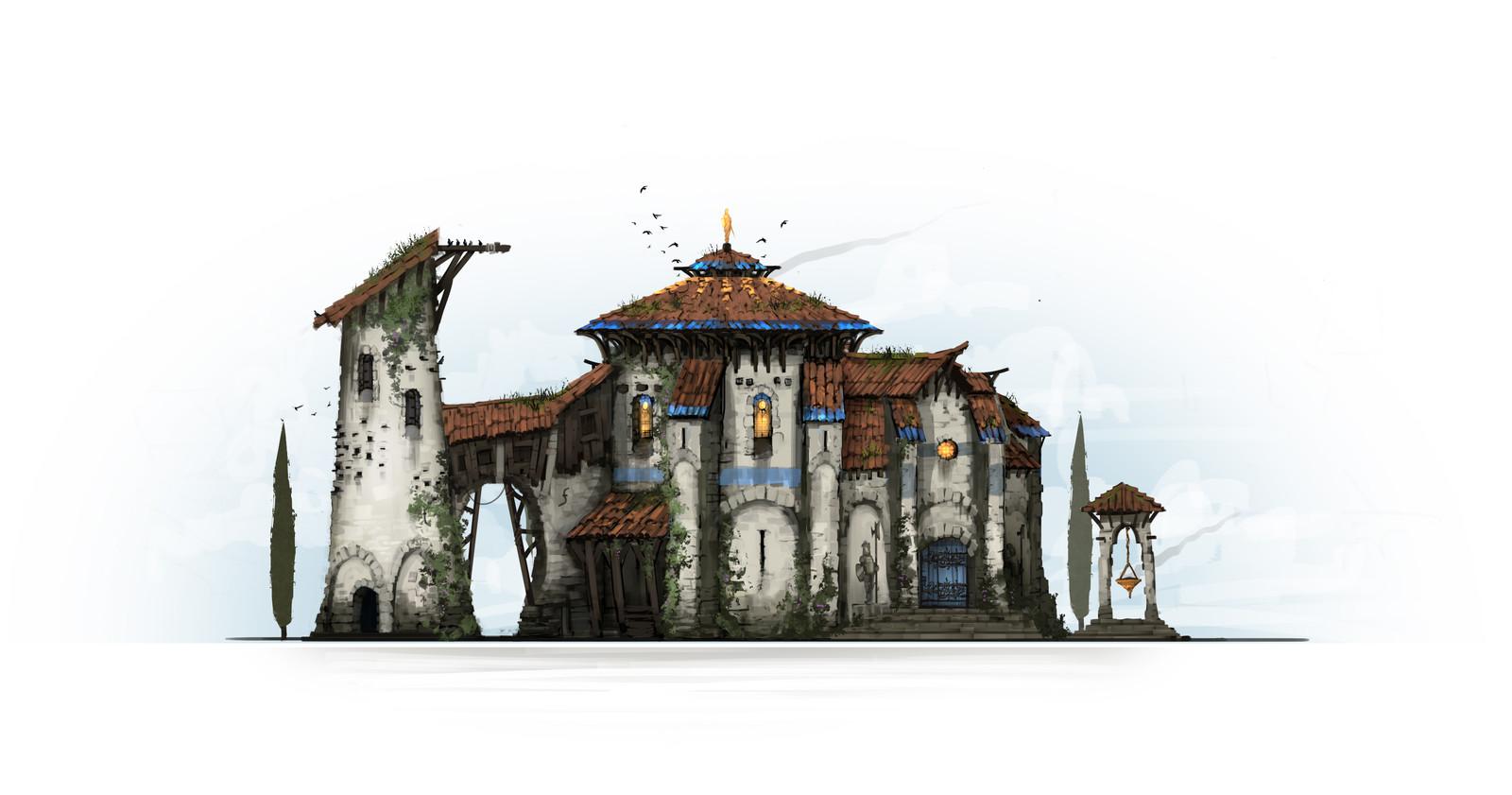 Concept of a Fantasy Provencal Architecure