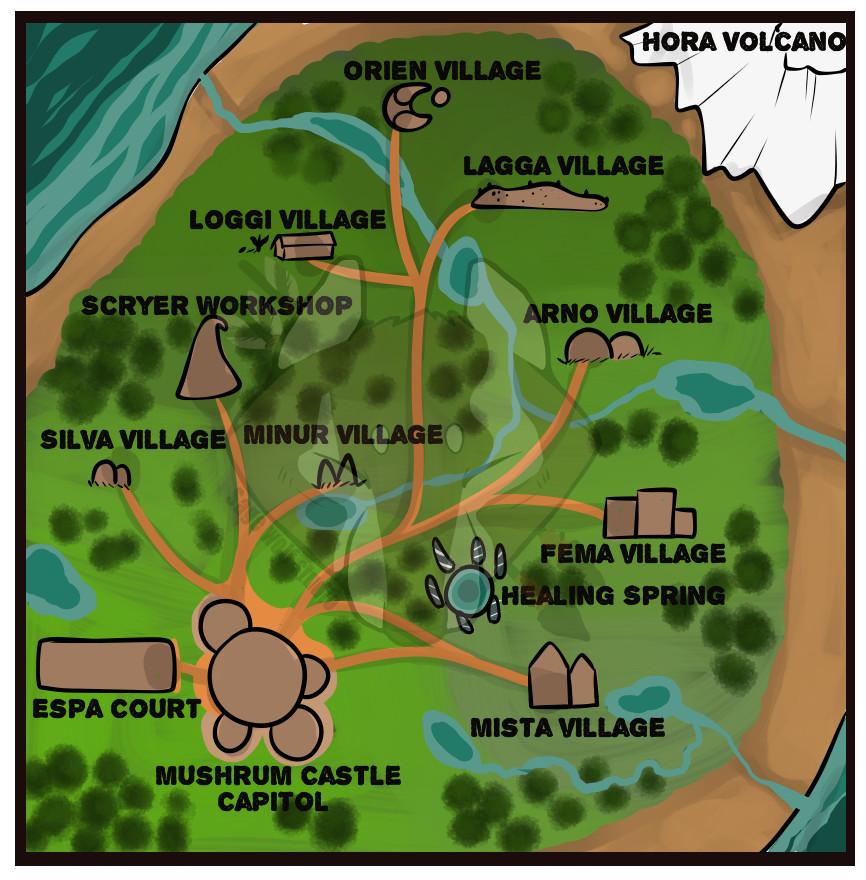 Mushroom World Map.Artstation Mushroom Kingdom Sarah Adam
