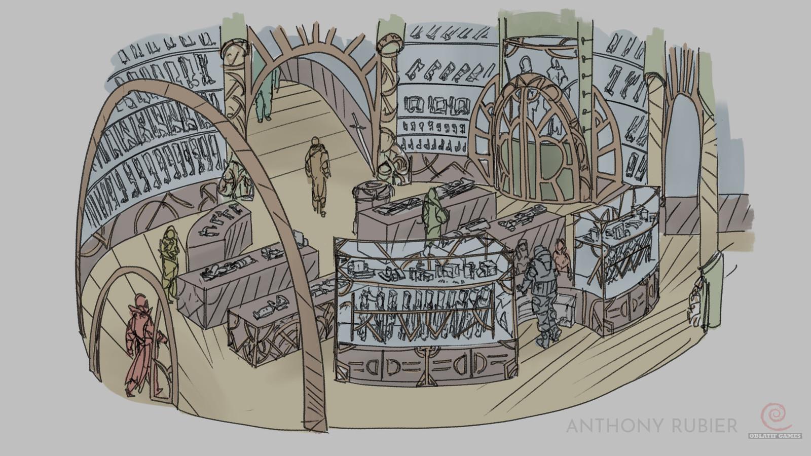 Weapon shop interior