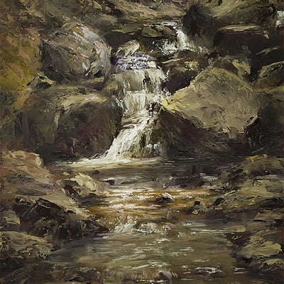 Waterfall II - for sale 11.8x15.7""