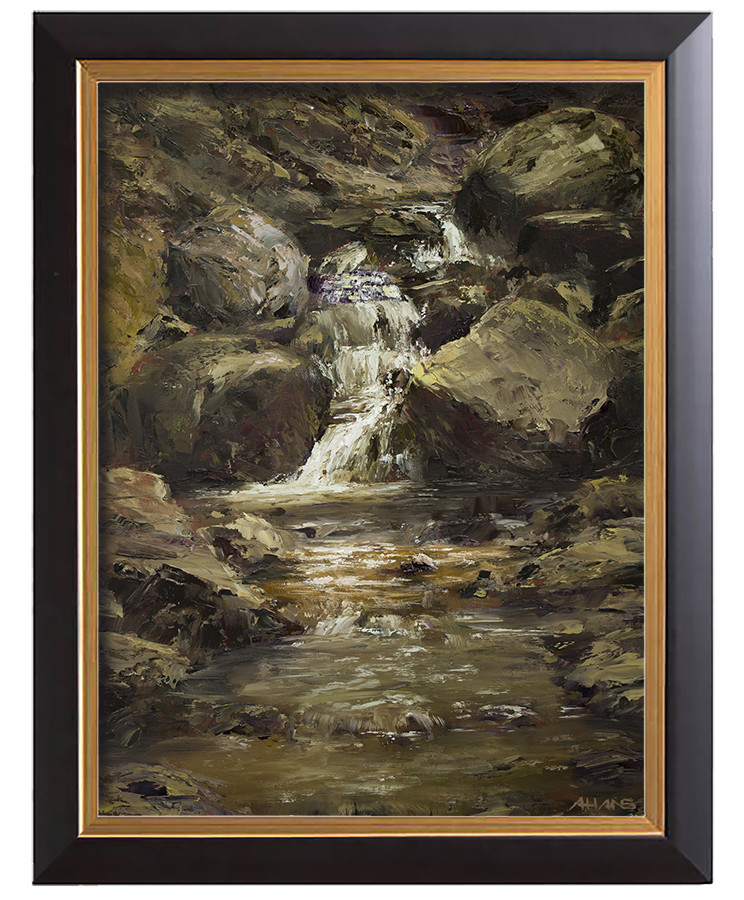 Arthur haas waterfall ii small framed