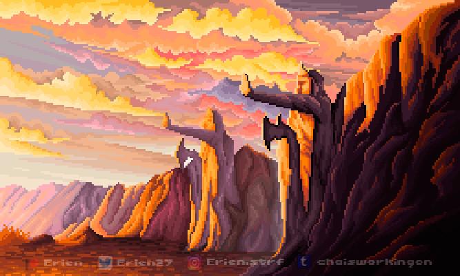 Pixel fan art #09 // LOTR