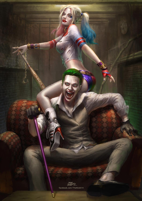 Artstation Joker And Harley Quinn Theknott Tarasilp