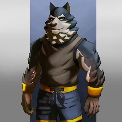 Daniel bernal werewolf wrestler bernalstudio