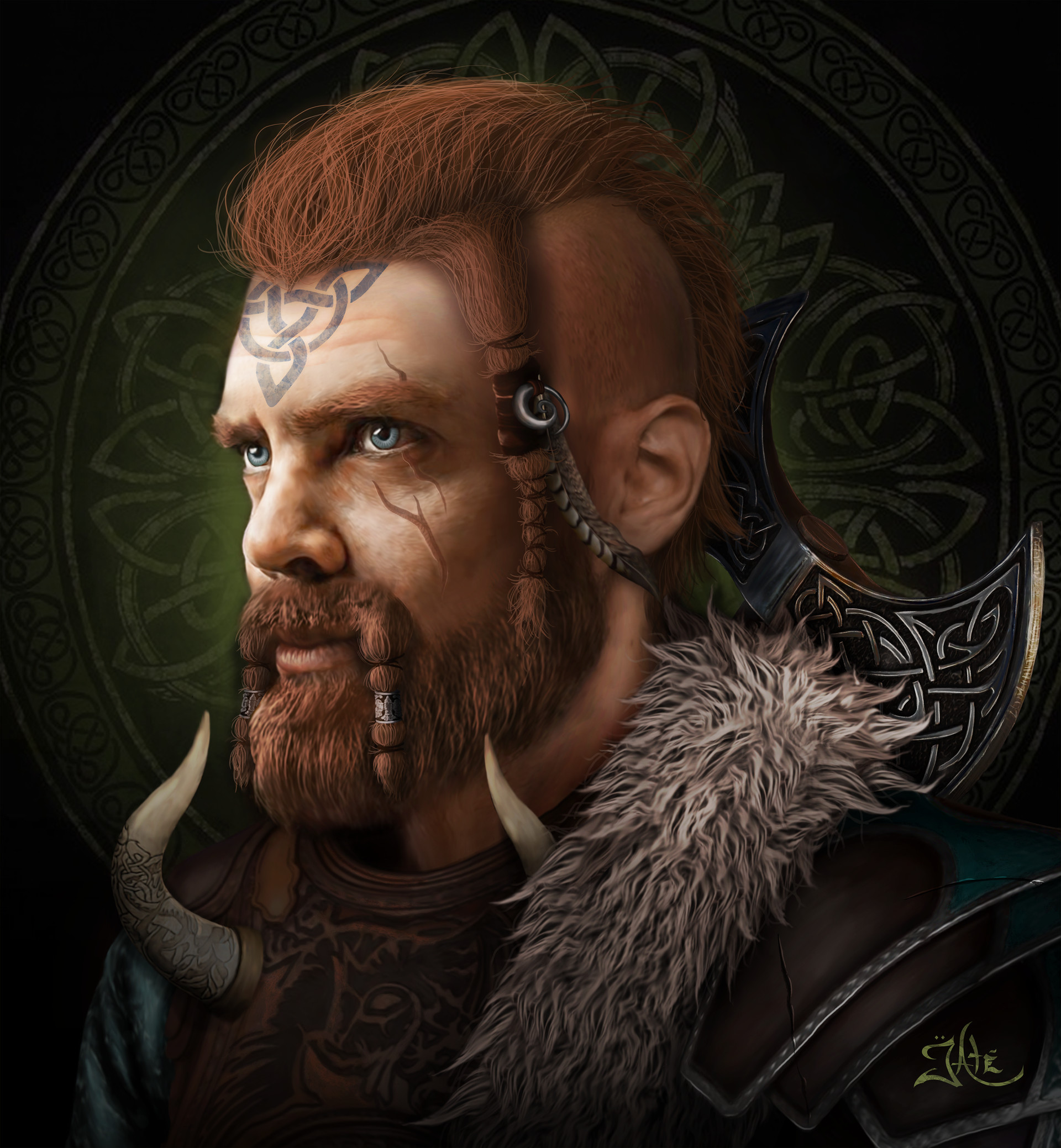 Artstation - Viking Warrior , Taylor Tate-2646