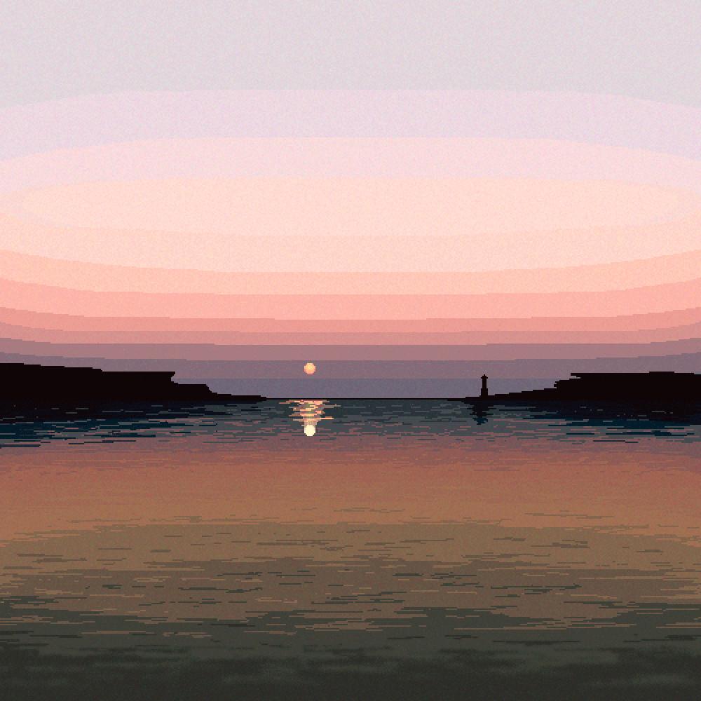 Pixel illustration #05 // Horizon