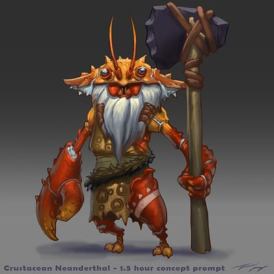 Travis lacey neanderthal crustacean concept crab travis lacey