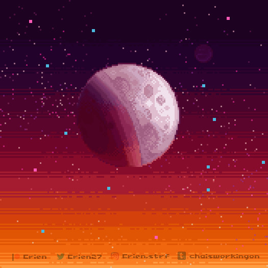 Pixel things #05 // To the moon