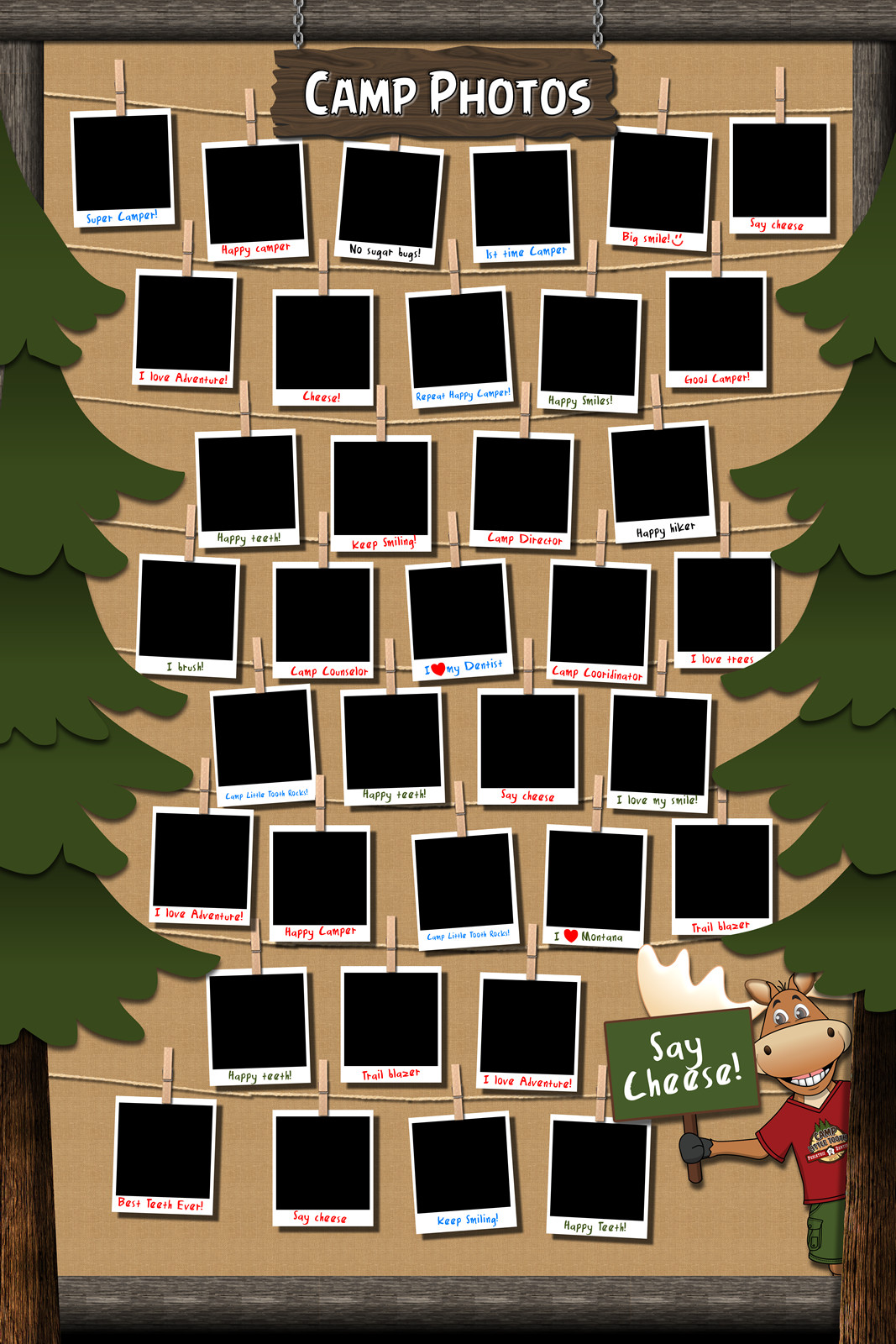 """Camp Little Tooth """"Photo Wall"""" for Xray room"""