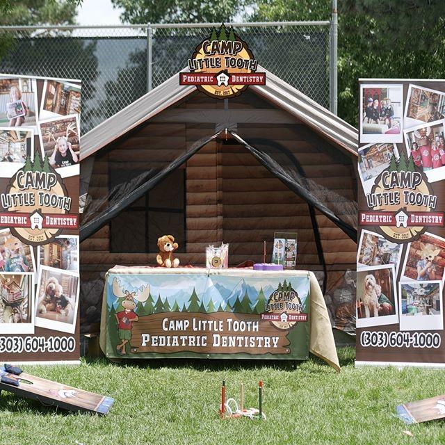 Camp Little Tooth fair setup