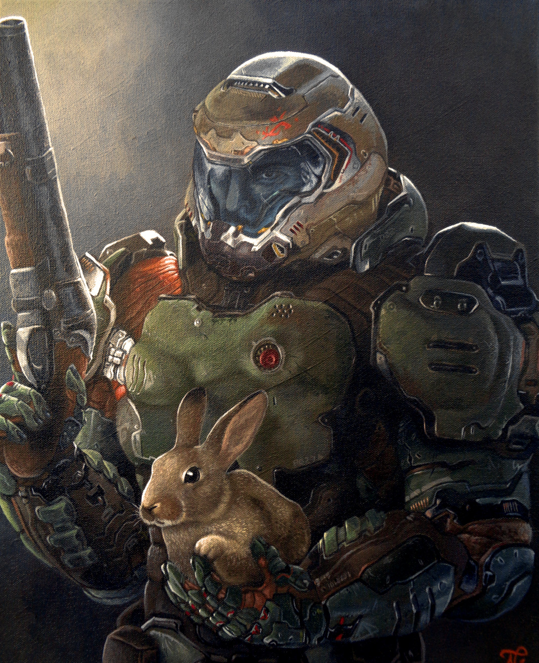 ArtStation - Doom Slayer and Daisy - DOOM 2016, Ian Nielsen
