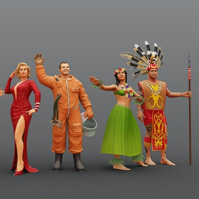 Sergey abanin people low poly
