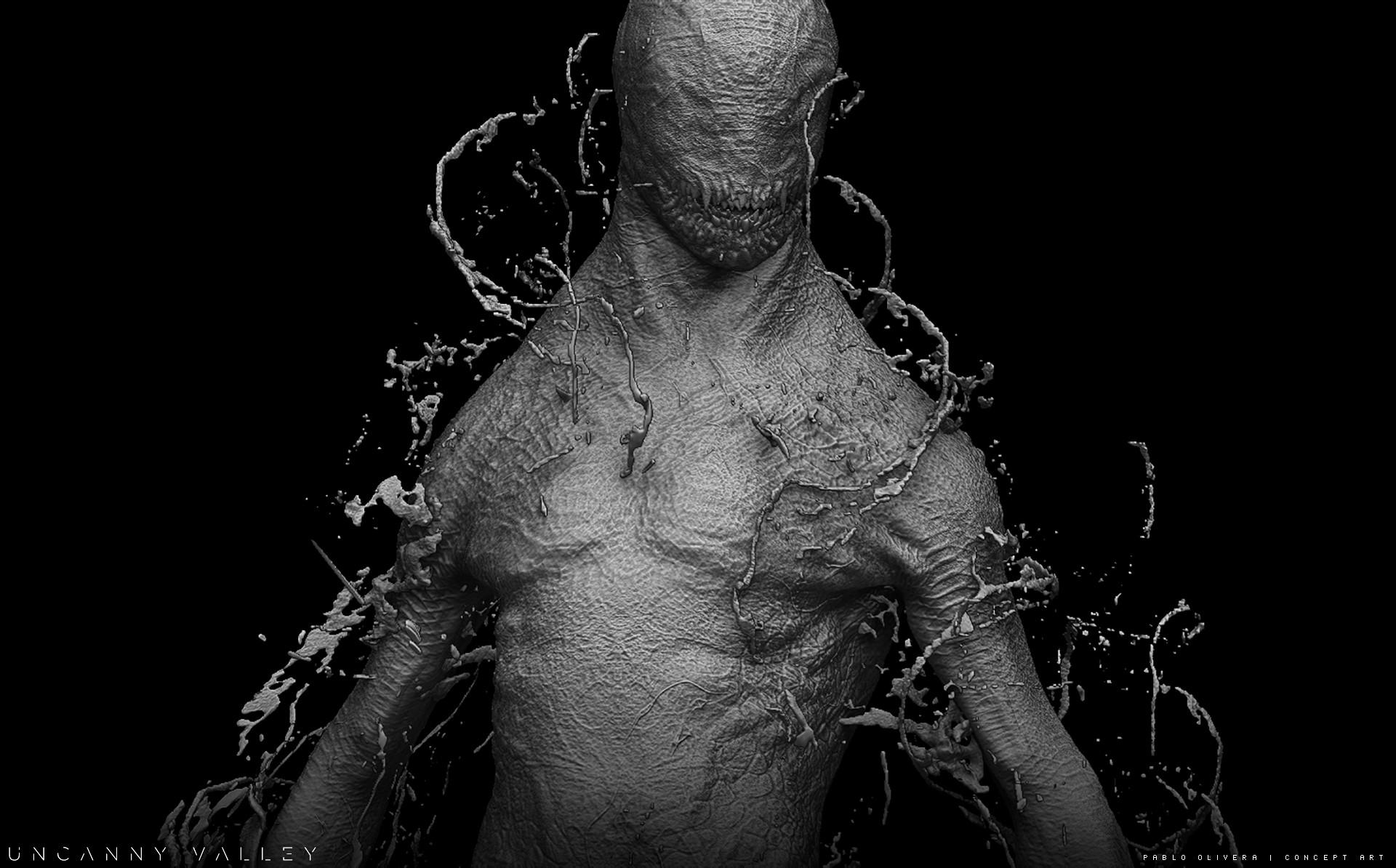 Pablo olivera alien renders concept art digital sculpt 03