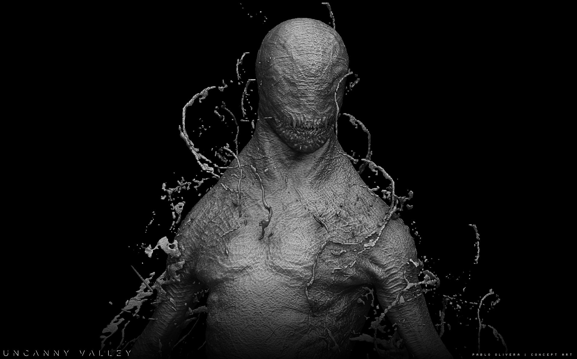 Pablo olivera alien renders concept art digital sculpt 01