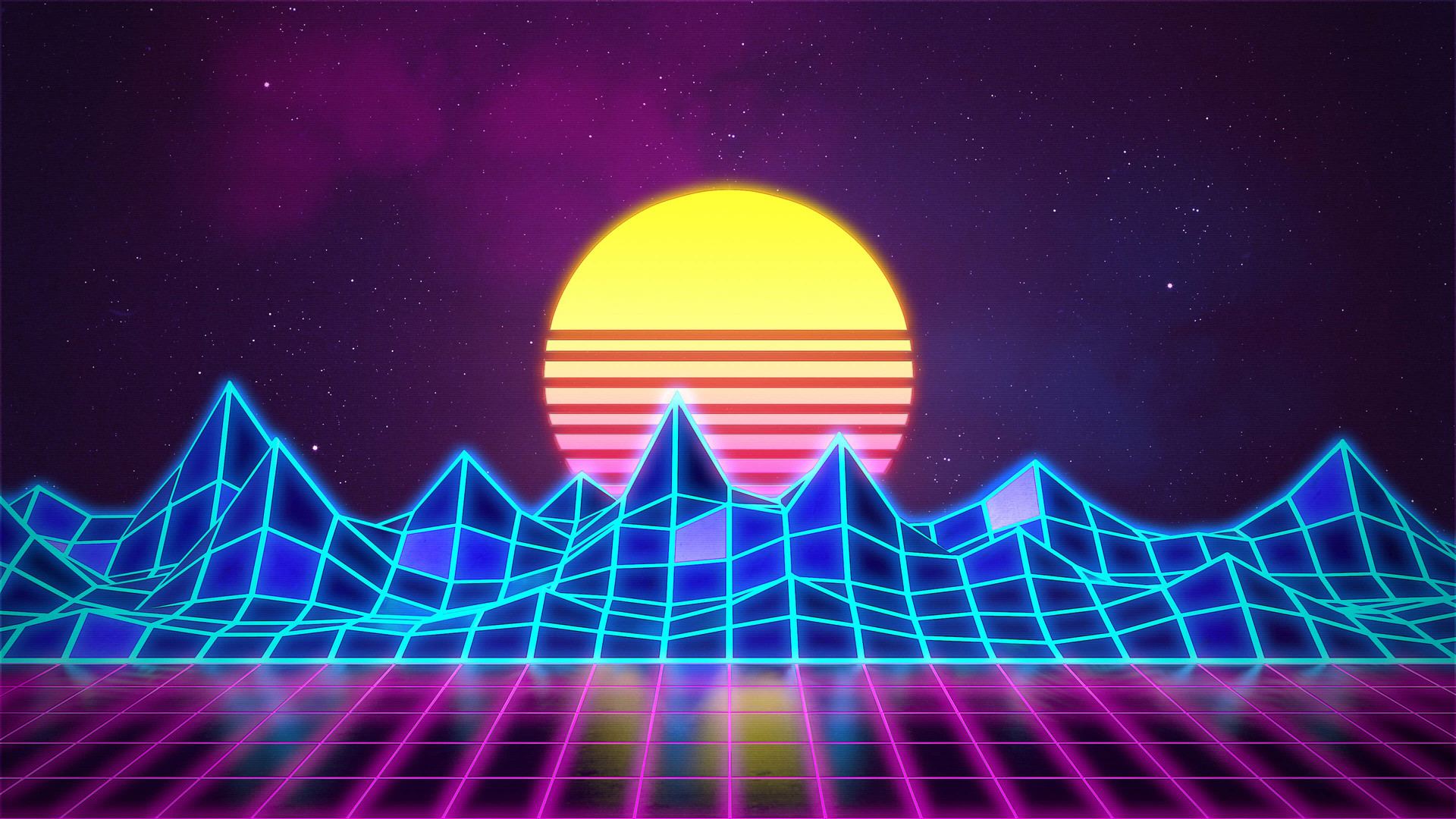 ArtStation - Synthwave – Neon 80's – Background, Rafaël De Jongh