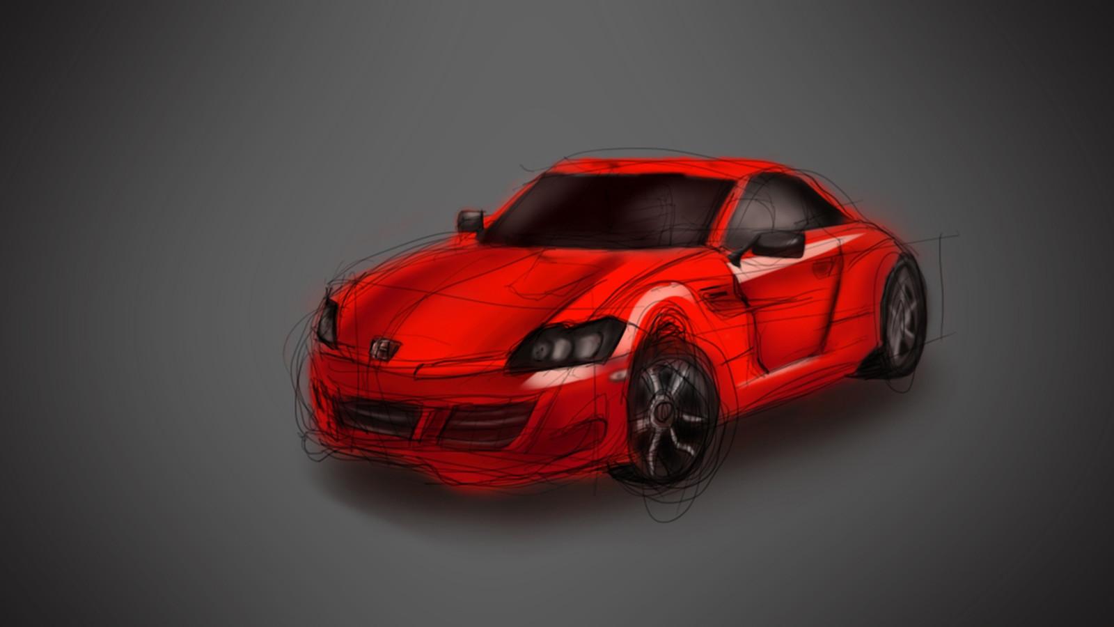 Quick sketch of a car.