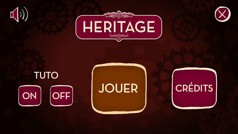 The menu interface