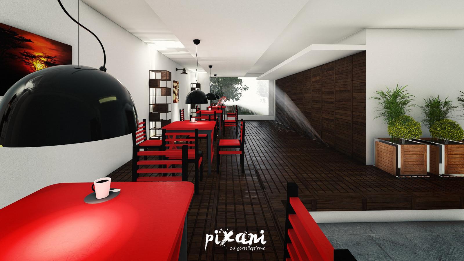 Second Dining Hall of Karebant  KAREBANT REFECTORY  designed by Serdar Çakmak Pixani 3D Visualization & Animation www.pix-ani.com