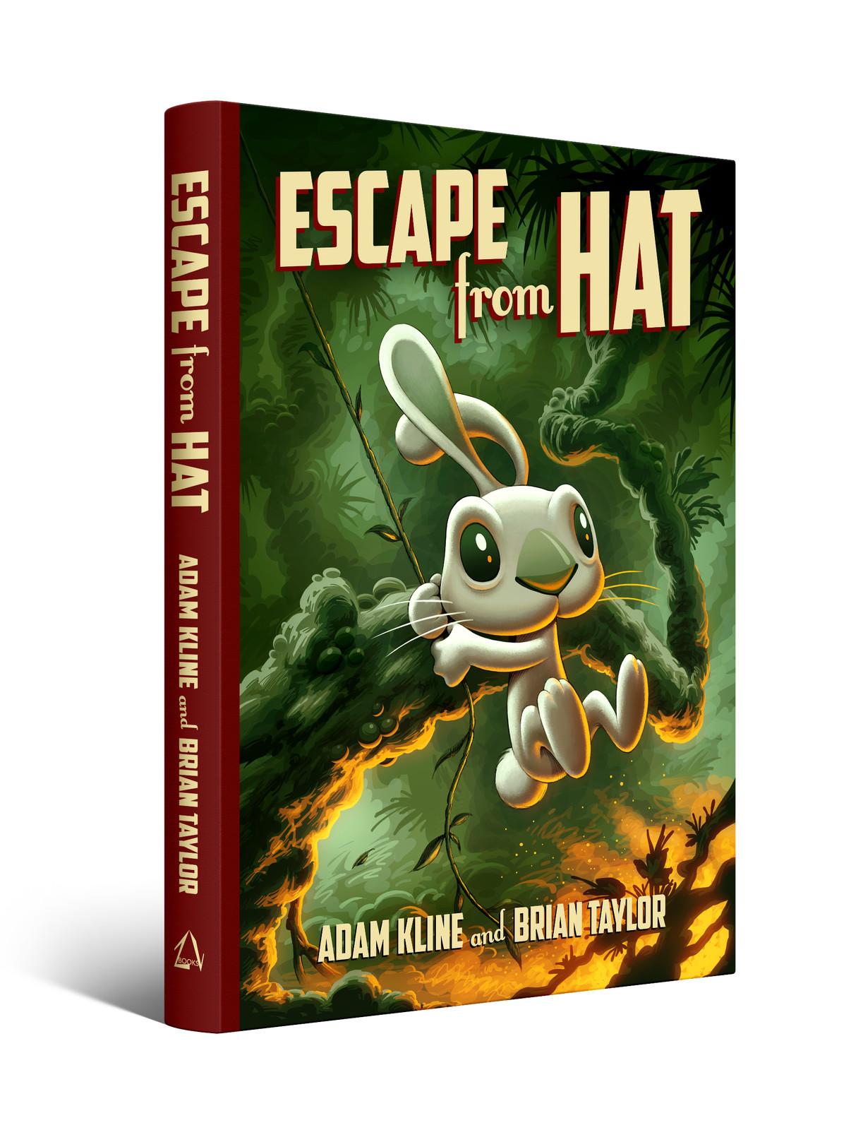 Escape from Hat book cover design