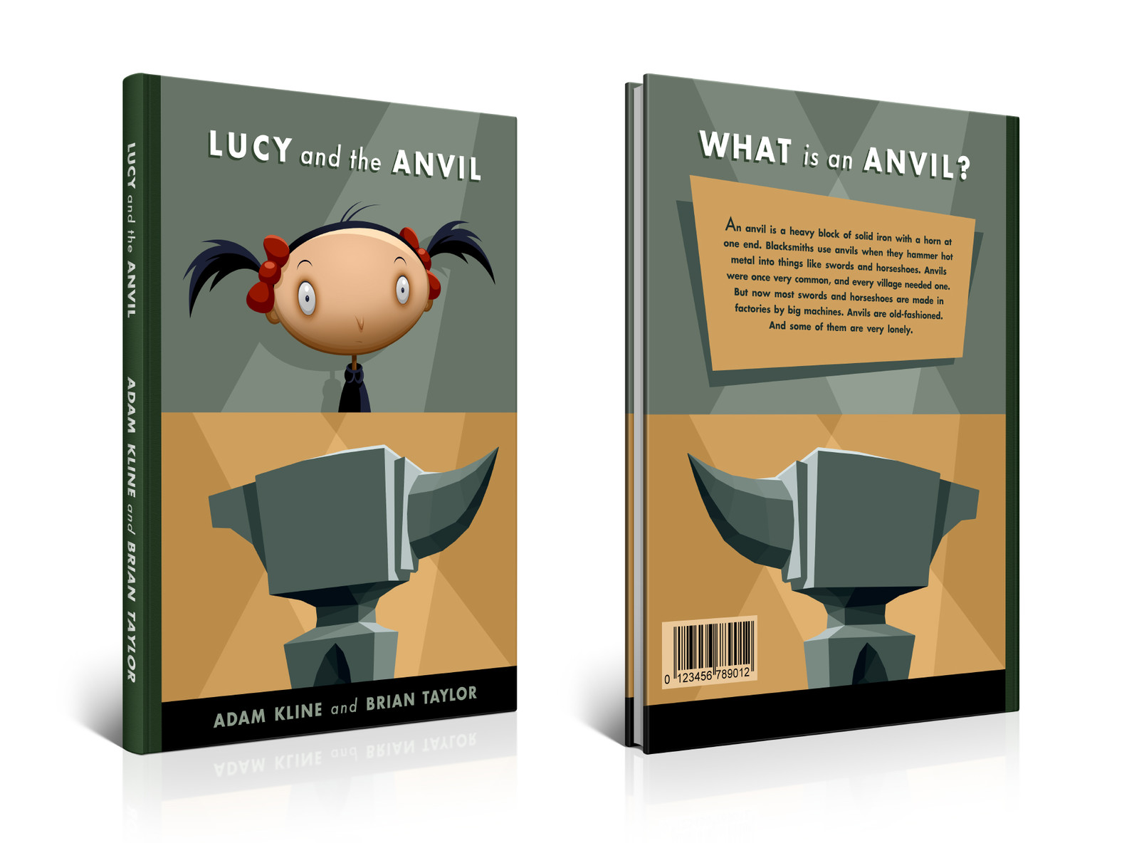 Lucy and the Anvil book design