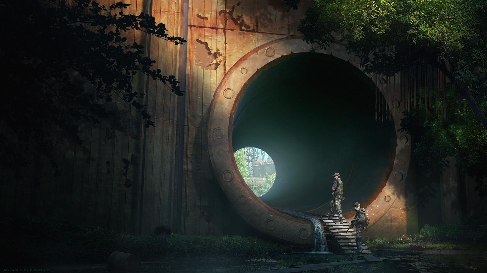 Survival game concept art