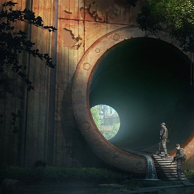 Travis lacey survival concept art fps game travis lacey drainage pipe small