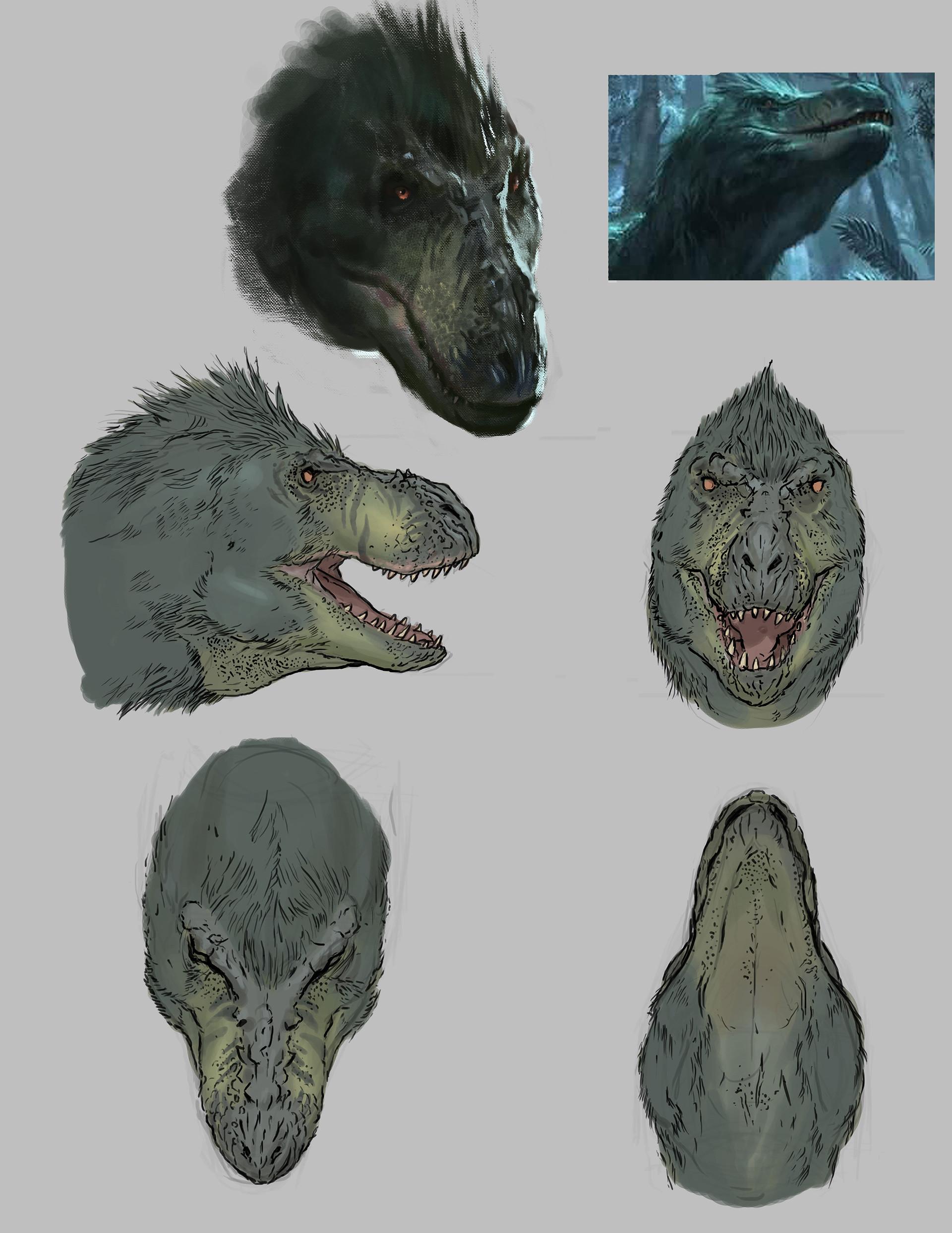 Tyrannosaur head profile