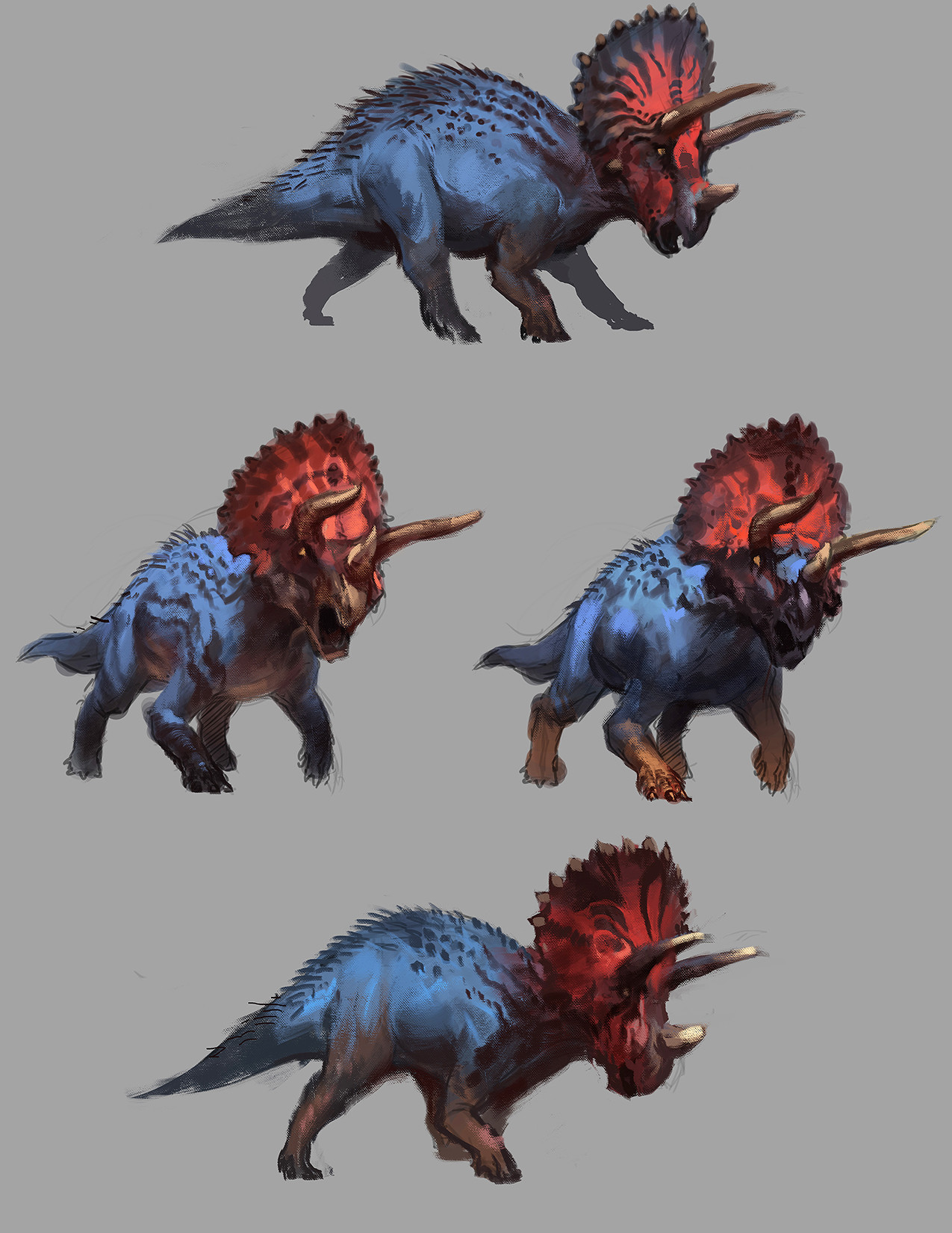 Triceratops variants sketches