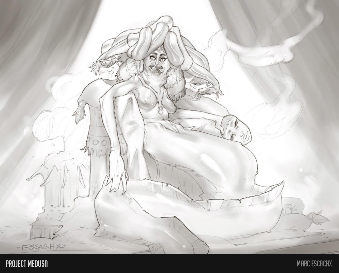 Unmasked medusa concept