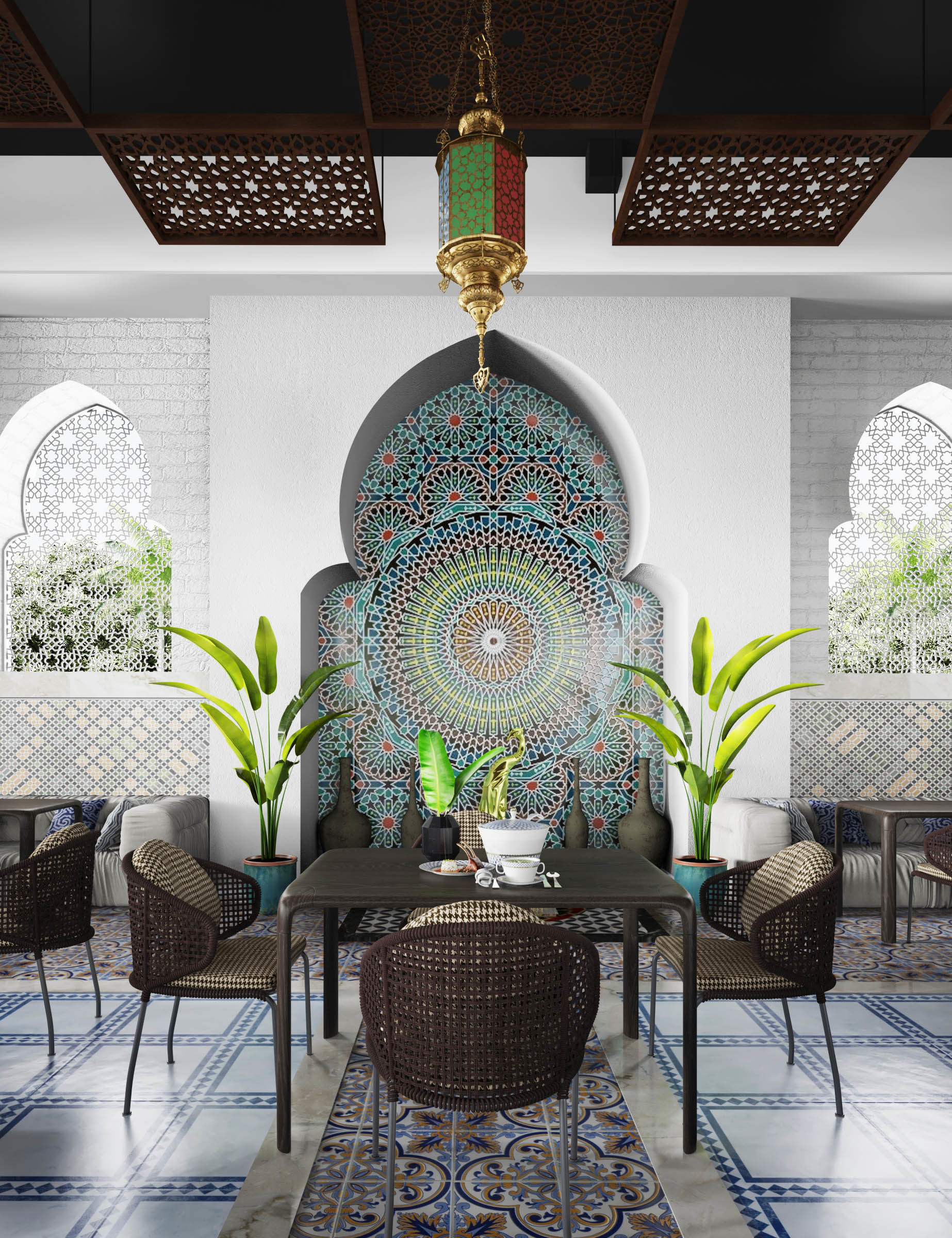Mokhtar Saber Abdo Renovation Of Moroccan Restaurant In Cairo