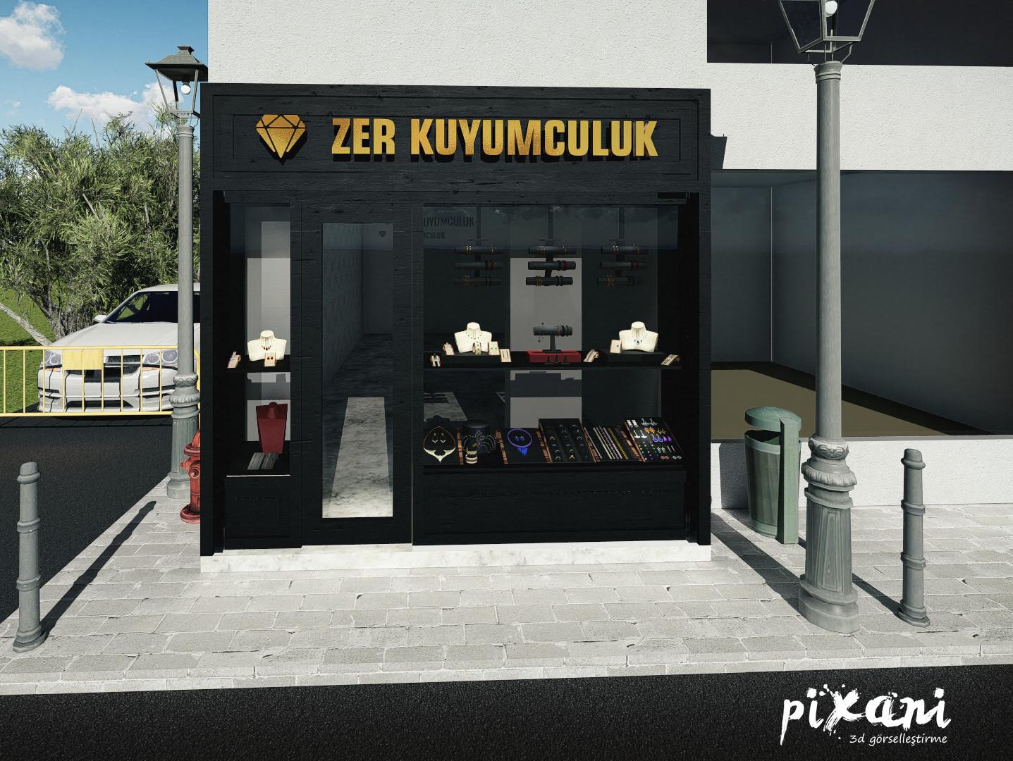 ZER Jewelry Store Pixani 3D Visualization & Animation