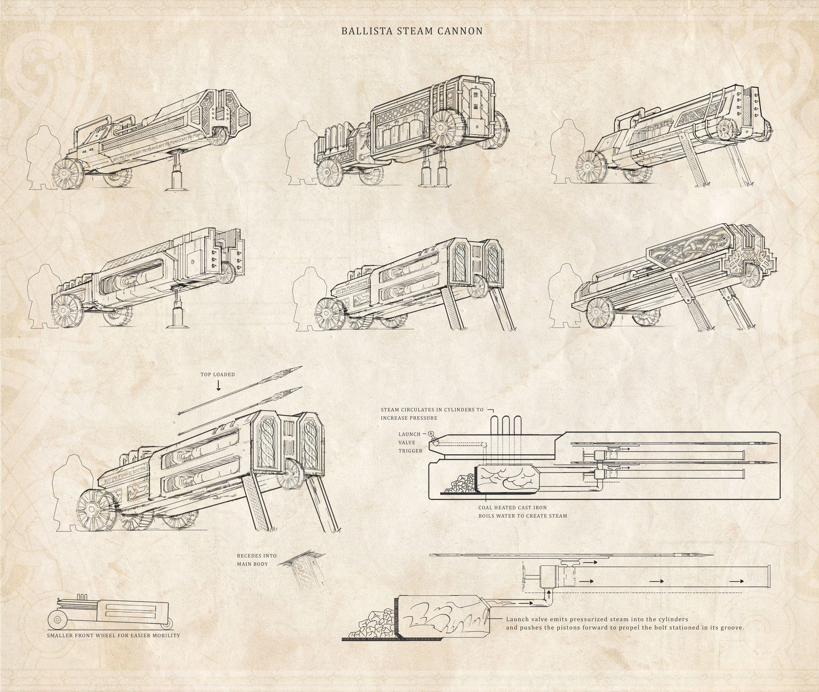 Ballista Steam Cannon