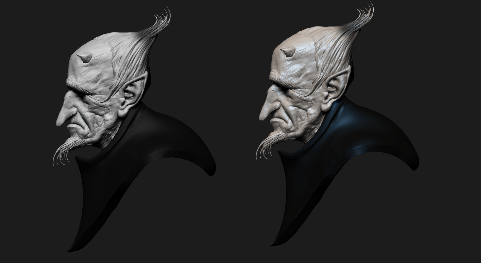 3d sculpt based upon a 2D concept by the awesome Vyacheslav Safronov