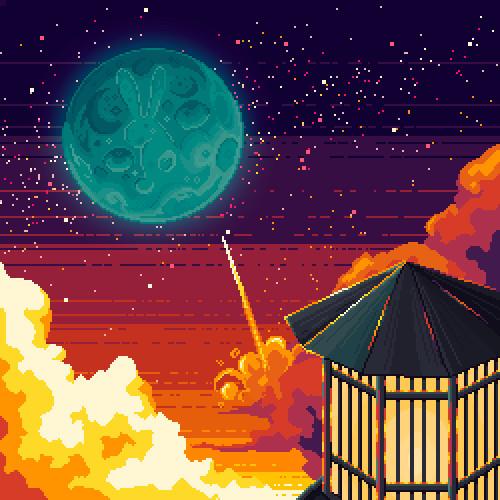 Pixel Fanart #10 // To the moon