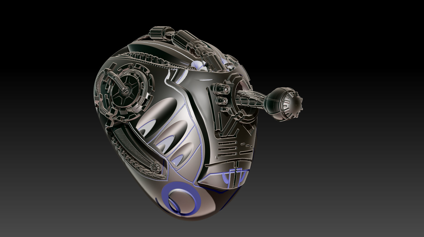 Cyborg Helmet
