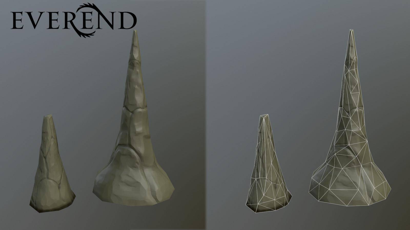 stalagmites (or stalactites)