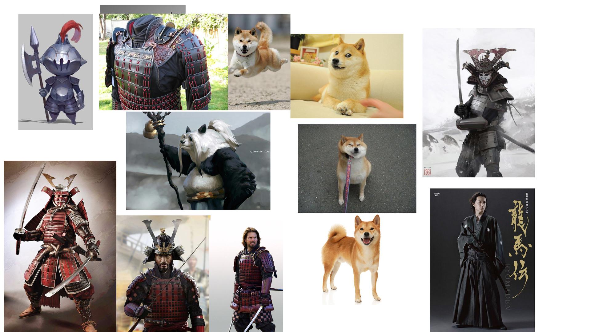 Anthea zammit shiba inu samurai mood board