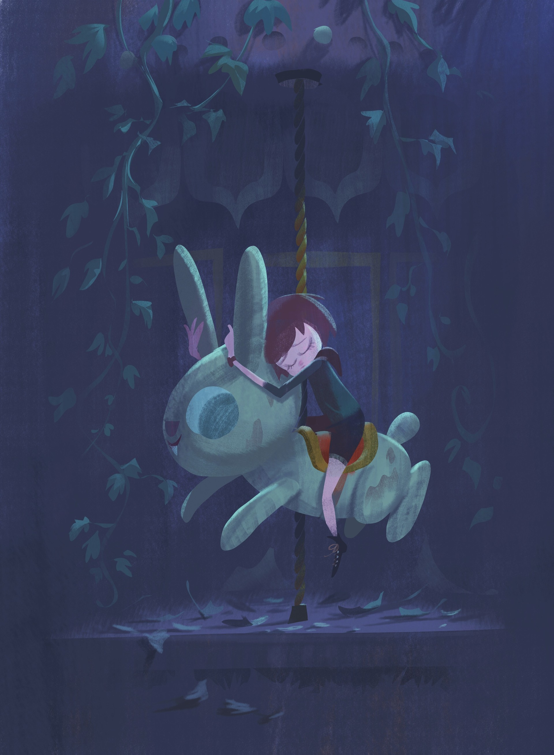 Rustam hasanov rustam hasanov carousel bunny forprint