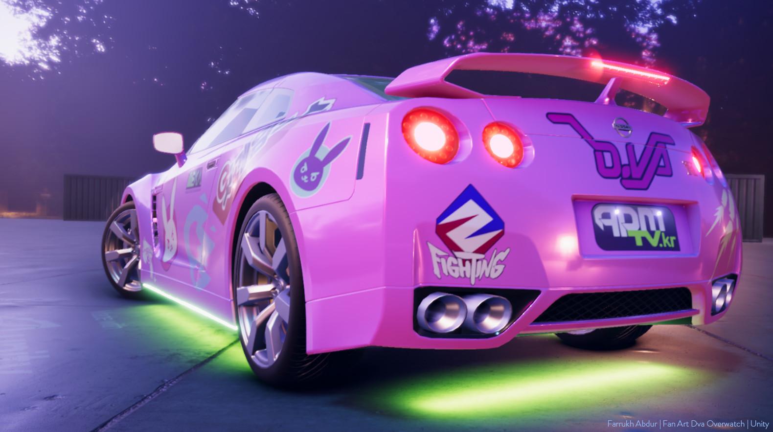 ArtStation - Dva Fanart Car - Unity 3d, Farrukh Abdur