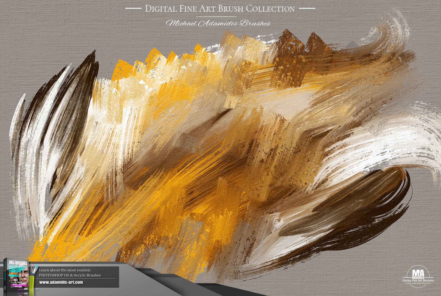 ArtStation - Photoshop Oil Brushes Painting Texture Brush