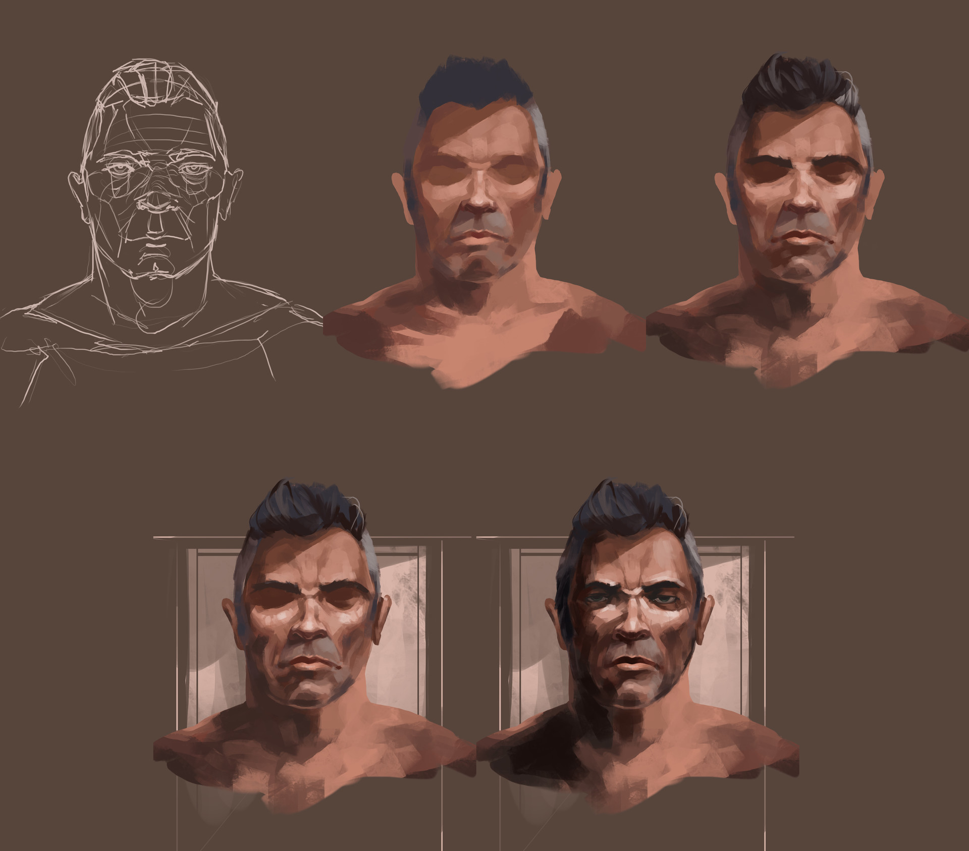 Benjamin goupil portrait study set up process