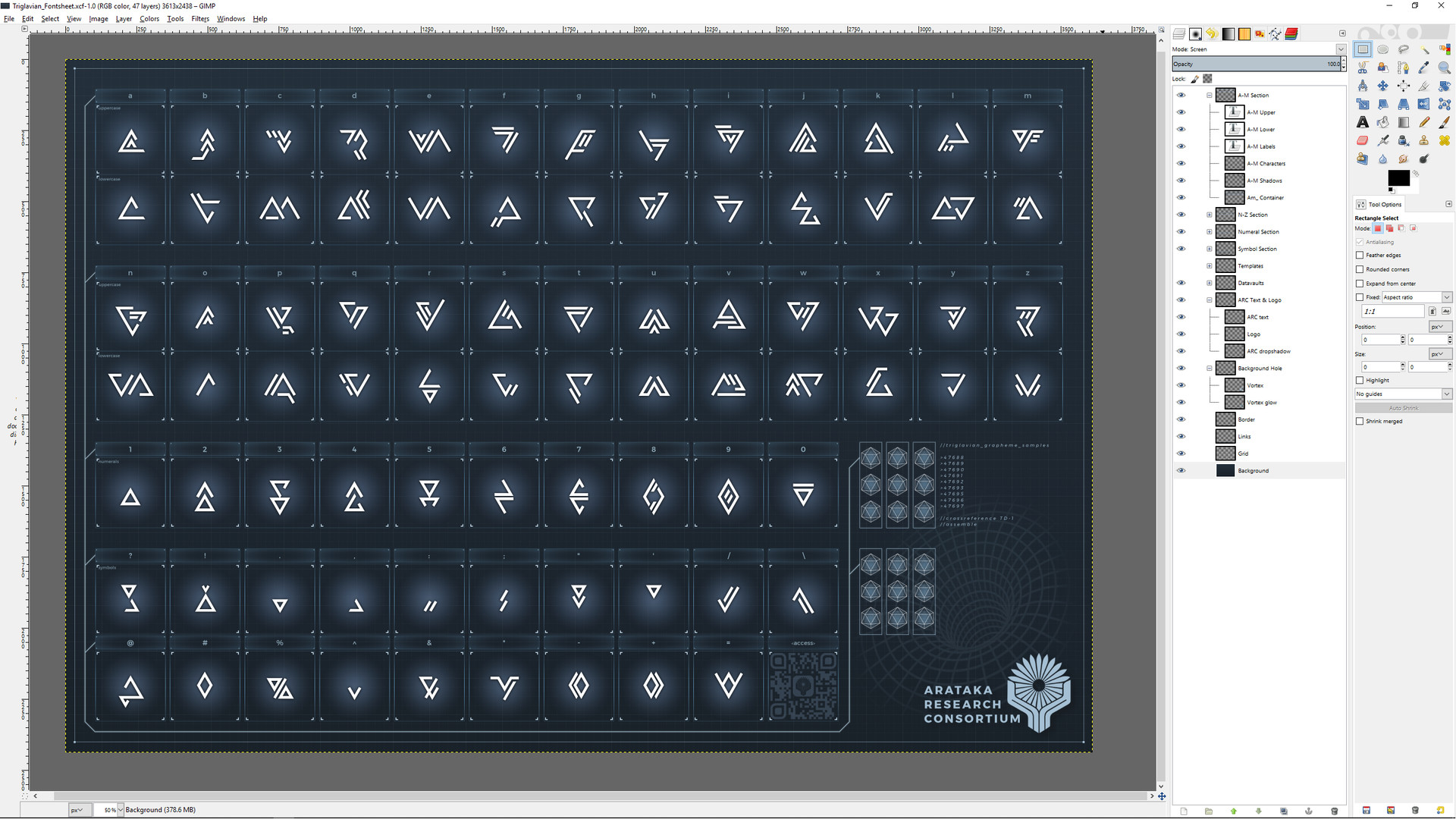 ArtStation - Triglavian Alphabetical Chart, Nicholas Antonucci