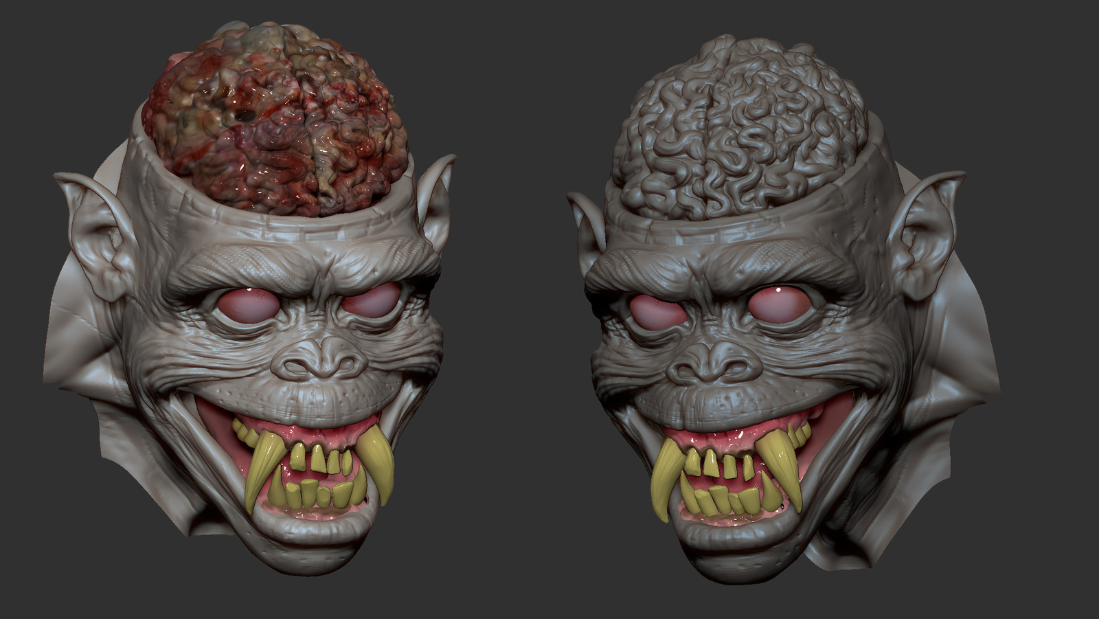 Skull 3d sculpt based upon an original concept by Patrick Magee aka Mageefx